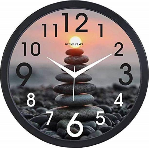 Dinine Craft Analog 31 cm X 31 cm Wall Clock