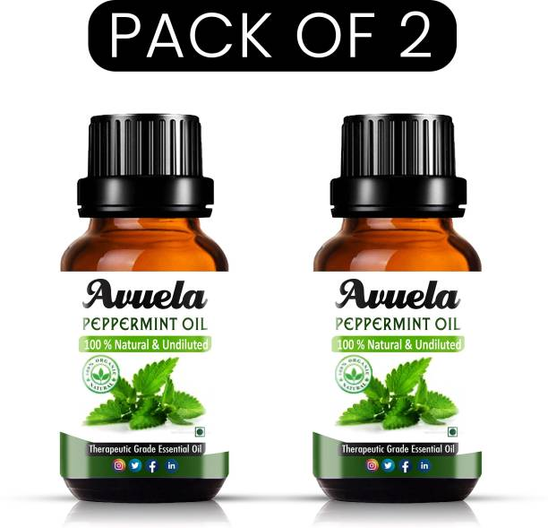 avuela Peppermint Essential Oil, 100% Natural(10 ml) (Pack of 2)
