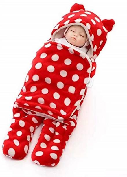 My New Born New born baby sleeping bag, baby bedding, safe, wrap for baby boy, baby girls-Red Sleeping Bag
