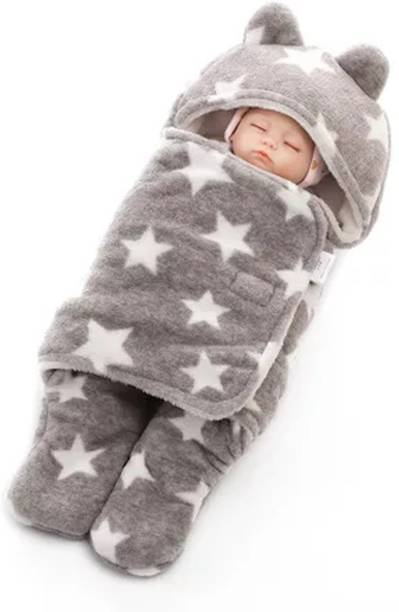 My New Born New born baby sleeping bag, baby bedding, safe, wrap for baby boy, baby girls-Grey Sleeping Bag