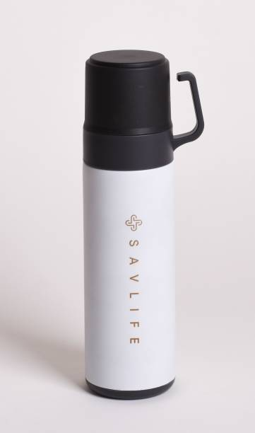 SAVLIFE Double cup Thermo steel lid keep Heat and cold vaccum insulated 600 ml Flask