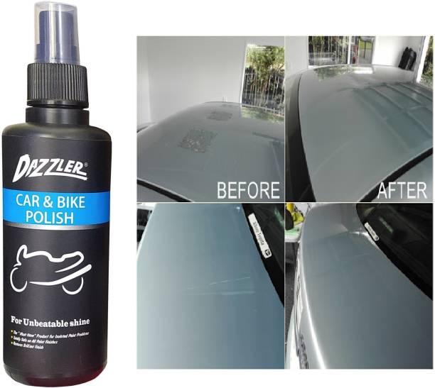 Dazzler Liquid Car Polish for Metal Parts, Dashboard, Leather, Chrome Accent, Exterior