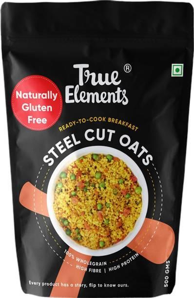 True Elements Steel Cut Oats, Wholegrain Breakfast, High Fibre