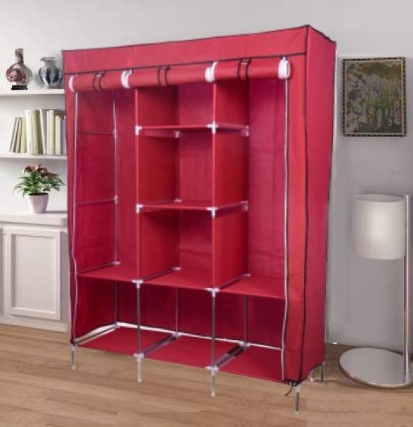 vipash 6+2 COLLAPSIBLE Wardrobe Carbon Steel Collapsible Wardrobe
