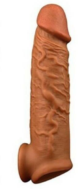 Dragon 6.75 Inch INDIAN DARK CHOCOLATE JUMBO REUSABLE CONDOM WASHABLE PENIS EXTENDER CONDOM Condom