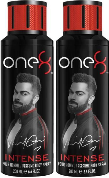 one8 by Virat Kohli Intense Deo Pack of 2 (200ml x 2) Perfume Body Spray  -  For Men