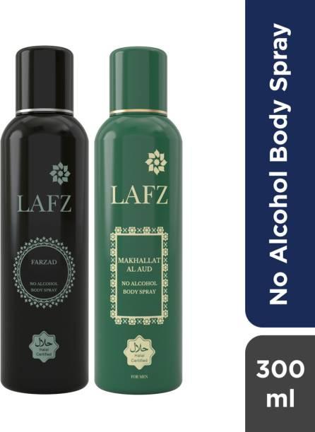 LAFZ Farzad & Makhallat Al Aud No Alcohol Body Spray  -  For Men