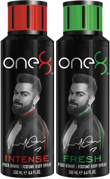 one8 by Virat Kohli Intense & Fresh Deo Pack of 2 (200ml x 2) Perfume Body Spray  -  For Men