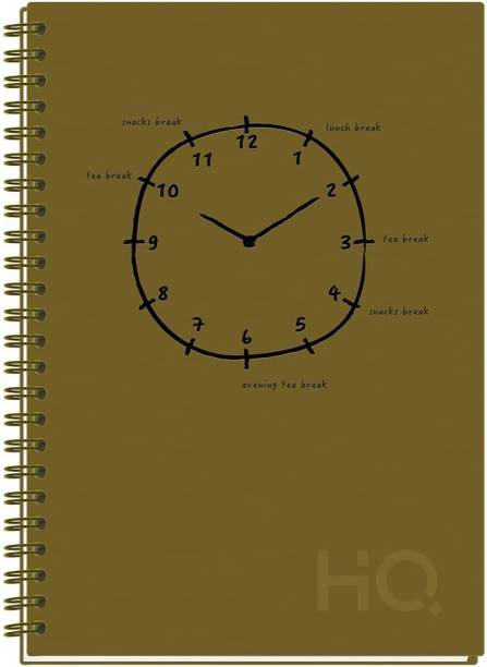 NAVNEET HQ CBNB Wiro Corporate Edge Book (A5 Size) - U.V. A5 Diary Single Line 192 Pages