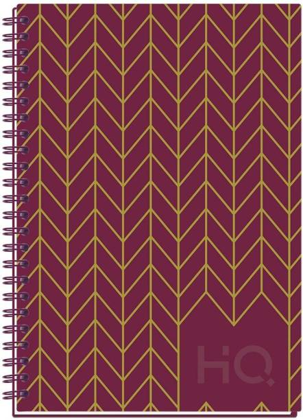 NAVNEET HQ CBNB Wiro Corporate Edge Book (A5 Size) - Foil A5 Diary Single Line 192 Pages