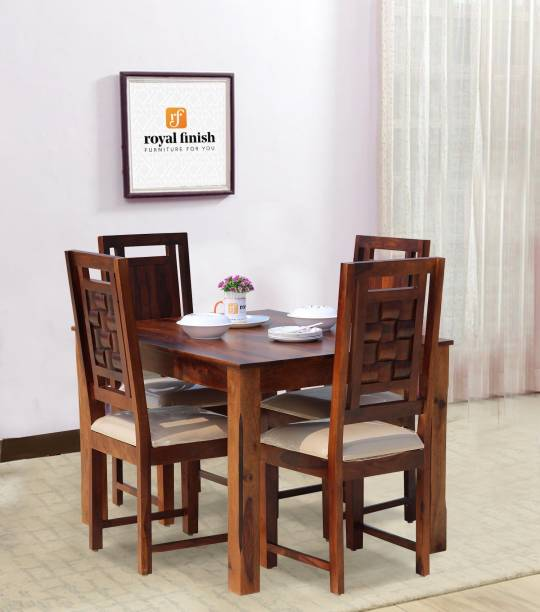 ROYAL FINISH Solid Wood 4 Seater Dining Set