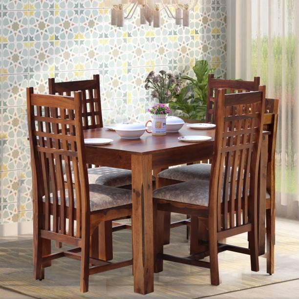 ROYAL FINISH Vettori Dining Set Solid Wood 4 Seater Dining Set