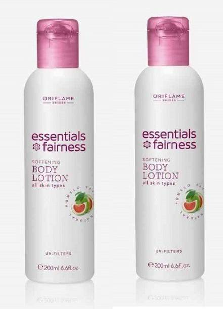 Oriflame Sweden Essential Fairness Softening Body Lotion UV Filters (Pack of 2)