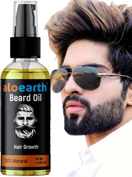 Aloearth Aloear Beard and Mooch Growth oil for Boys and Men Hair oil Hair Oil (50 ml) Hair Oil