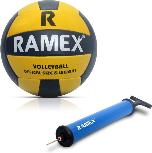 RAMEX VOLLEYBALL WITH AIR BALL PUMP Volleyball Kit