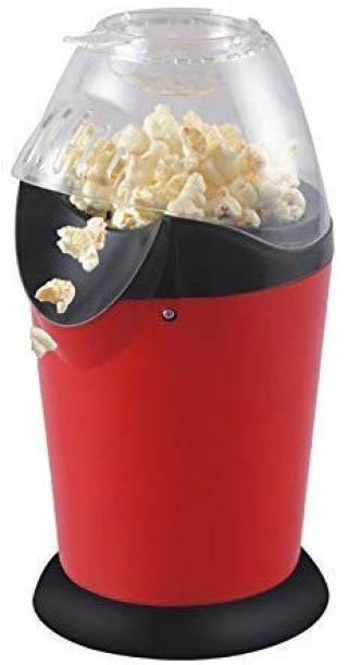 SPIRITUAL HOUSE Popcorn Machine - Oil Mini Hot Air Popcorn Machine Snack Maker Portable Electric Popcorn Maker Household Automatic Popcorn Machine 1200W 1 L Popcorn Maker (Red, Black) 1 L Popcorn Maker