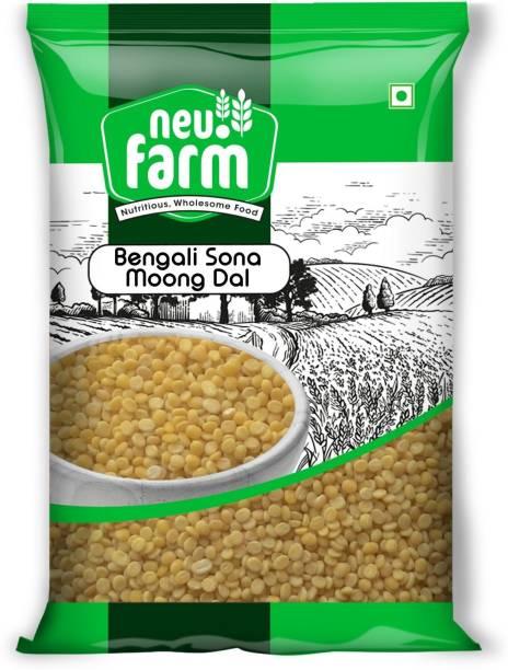 Neu.Farm Yellow Moong Dal (Split) (Bengali - Sona Moong Dal - Premium Quality - Pack of 3)