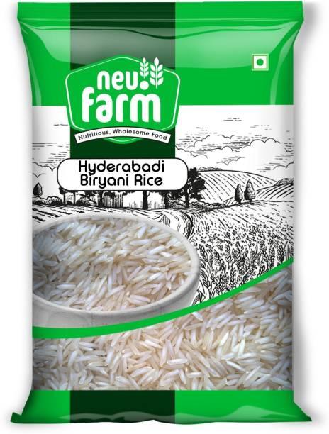 Neu.Farm Basmati Rice - Hyderabadi Biryani - Premium Quality - 2 Years Old Aged Rice Basmati Rice (Long Grain, Raw)