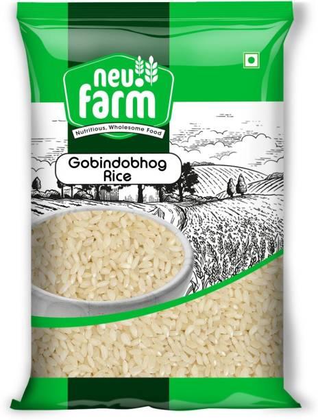 Neu.Farm Gobindobhog Rice - Ambemohar Rice - Aromatic Gobindobhog Rice - 16 to 18 Months Old Rice Gobindobhog Rice (Small Grain, Raw)