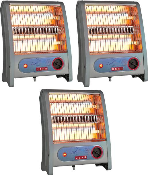 USHA QH 3002 pack of 3 Quartz Room Heater