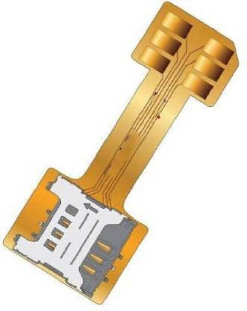 Mobiseries Hybrid SIM Slot Adapter, Avails You To Run 2 SIM And Micro SD Card, All At A Time (Nano to Micro Sim Slot) Sim Adapter (Plastic) Sim Adapter