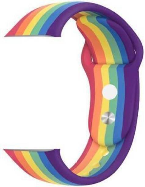 ezzy wzzy PLE WATCH STRAPS FOR SERIES 6/5/4/3/2/1 RAINBOW STYLE 42/44 MM Smart Watch Strap