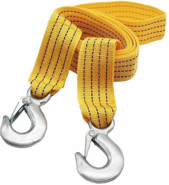VibeX ®IXI - JK - 25 - Nylon Car Truck Towing Rope Cable for Heavy Duty Car Emergency Tow Pull Rope Strap Hooks Van Road Recovery 4.5 m Towing Cable