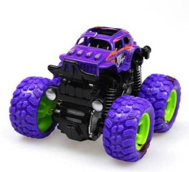 Toyporium Monster Trucks Friction Powered Cars (Purple)