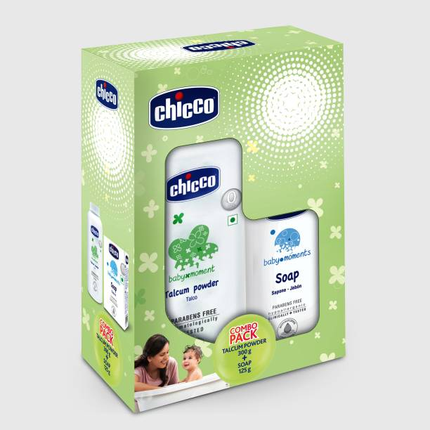 Chicco Talcum Powder 300g and Soap 125g (pack of 2)