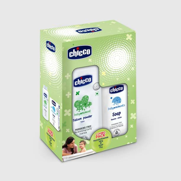 chicco Talcum Powder 150g and Soap 75g ( Pack of 2)