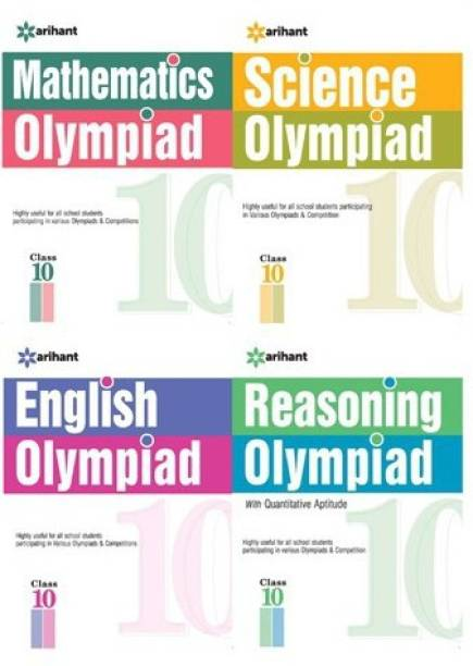 Olympiad Books Practice Sets Reasoning,Mathematics,Science,English Class 10th