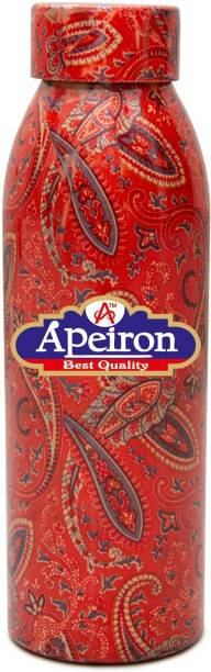 Apeiron Copper Water Bottle Rangoli Design 750ml 750 ml Bottle