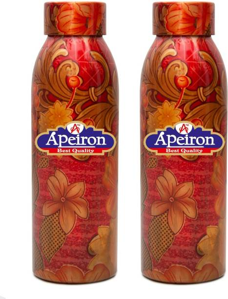 Apeiron Copper Bottle Mystic Design 750ml Pk 2 750 ml Bottle