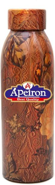 Apeiron Copper Water Bottle Rose Design 750ml 750 ml Bottle