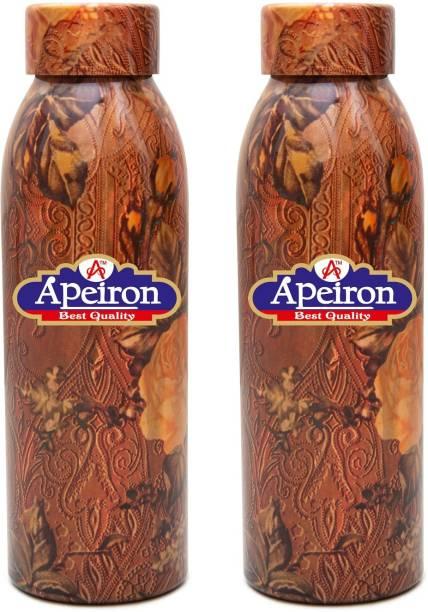 Apeiron Copper Bottle Rose Design 750ml Pk 2 750 ml Bottle