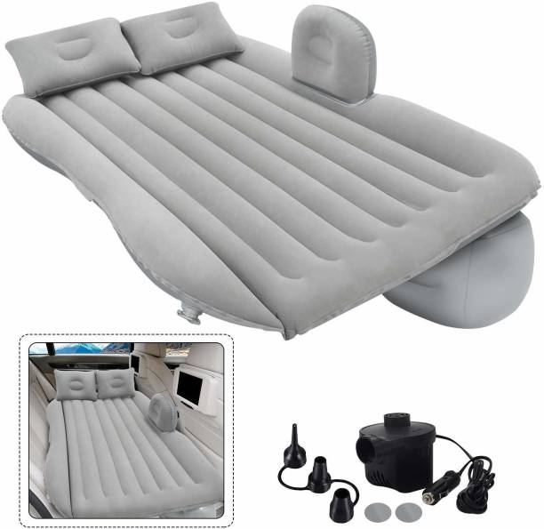 ADA Handicraft AH-Car Bed Grey -1 Inflatable Travel Car Bed Air Sofa with Two Inflatable Pillow for Car Back Seat -Car Air Bed Mattress for Car Sleeping Bed Travel Inflatable Backseat Mattress Car Inflatable Bed