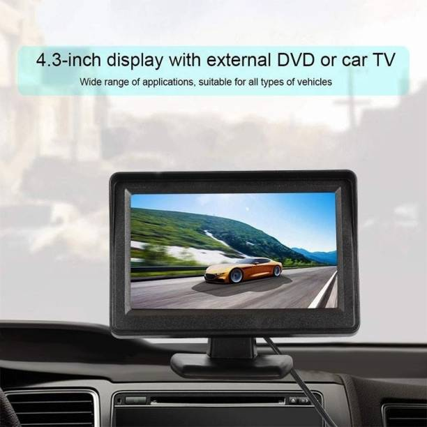 Auto Snap 4.3 Inch TFT TV Dashboard Screen Reverse Parking Assitance Device Black LED