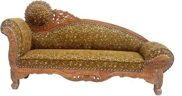 W.S.HANDICRAFTS Teak (Sagun) Wood 3 Seater Diwan Sofa Set with Cushion for Living Room | Brown Solid Wood Diwan (Finish Color - Honey Brown Finish) Solid Wood Diwan