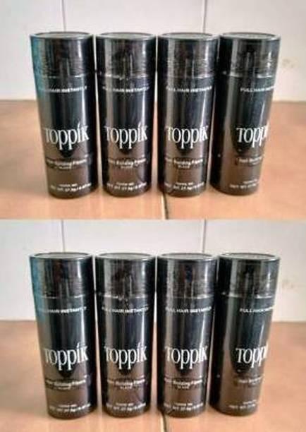 toppik Hair Building Fibers Black 27.5 gm Hair Fibers Volumizers 8 Packs Medium Hair Volumizer Hair Fibers