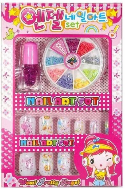 AANU DEXO Nail Art set for kids. Girls. Multi Color Nail Polish Set of 1 Pack of 1