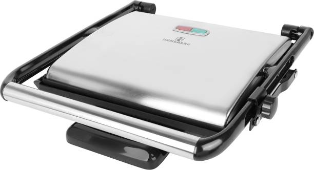 Homeberg Non-Stick Cooking Surface 4 Slice Jumbo Grill Sandwich Maker 2000W-HSG736 Grill, Toast