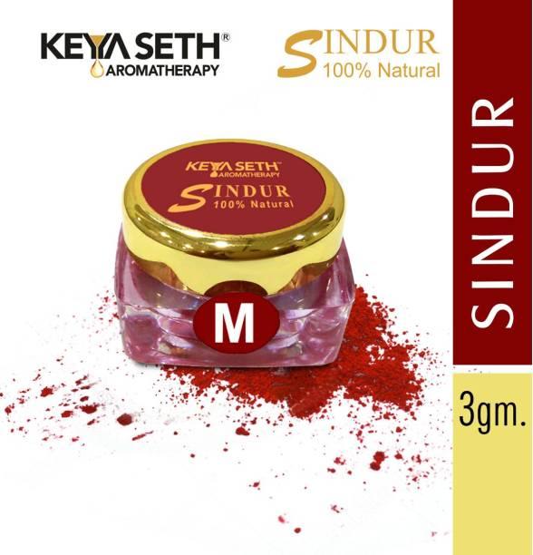 KEYA SETH AROMATHERAPY 100% Natural Sindur Dust Maroon , 3gm Sindur