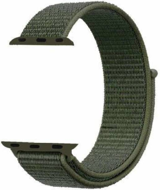 TECHWIND NYLON REPLACEMENT STRAP BAND FITS IN iWATCH SERIES 6/5/4/3/2/1 FOR 42/44 MM ARMY GREEN Smart Watch Strap