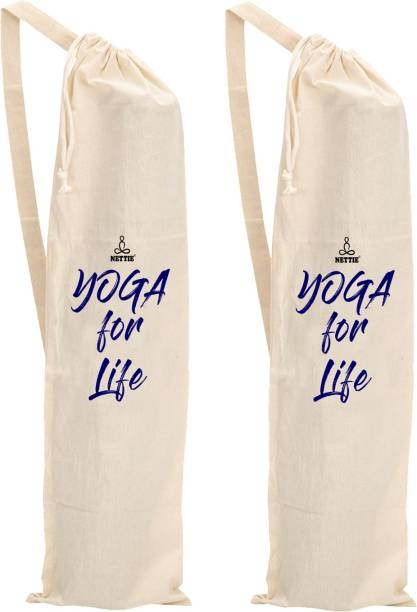 NETTIE yoga mat cotton carry bag - Big Size