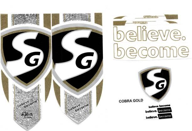 SG CG SG COBRA GOLD CRICKET BAT STICKER Bat Sticker
