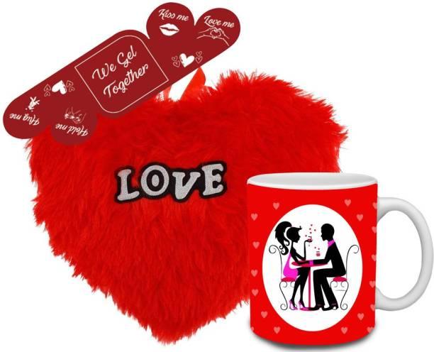 Flipkart SmartBuy Mug, Cushion, Greeting Card Gift Set