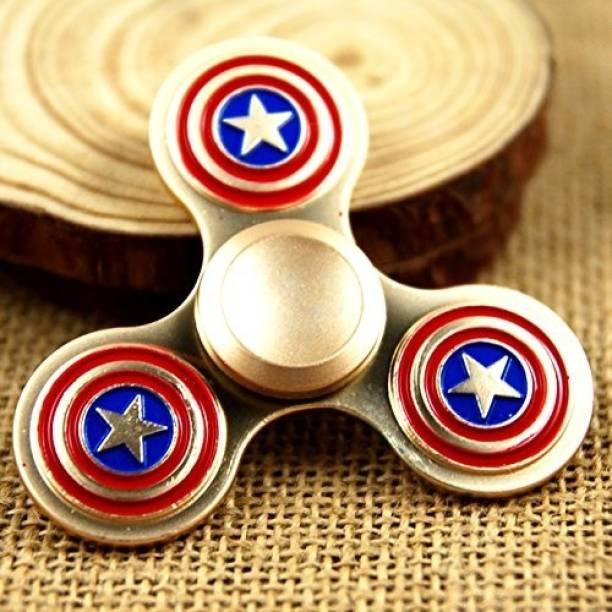 Wolfano Captain America Shield Fidget Spinner | Avengers | Long Spinning Time | Metallic Fidget Spinner | Stress Reducer | fidget spinner full metal | fidget toys