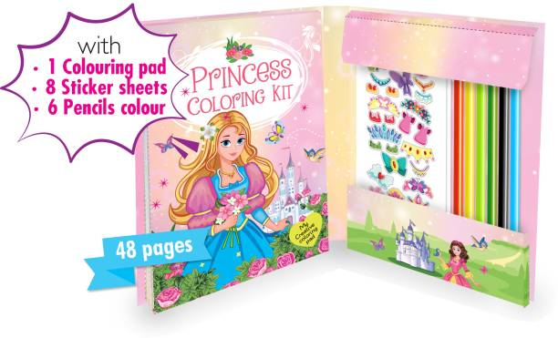 HELLO FRIEND Trendy Princess Kit with Attractive Pencils and Stickers