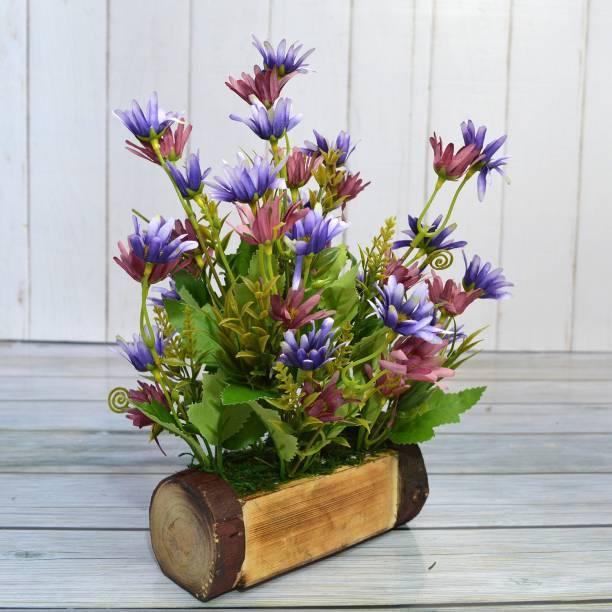 Flipkart Perfect Homes Icelandic Multicolor Wild Flower Artificial Flower  with Pot