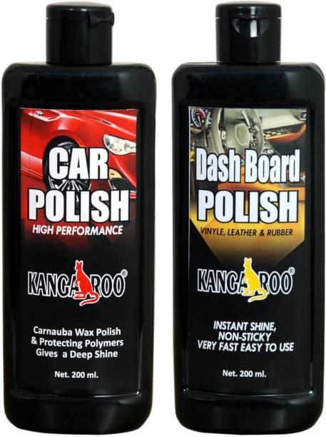 KANGAROO CAR POLISH 200 ML + DASHBOARD POLISH 200 ML Combo